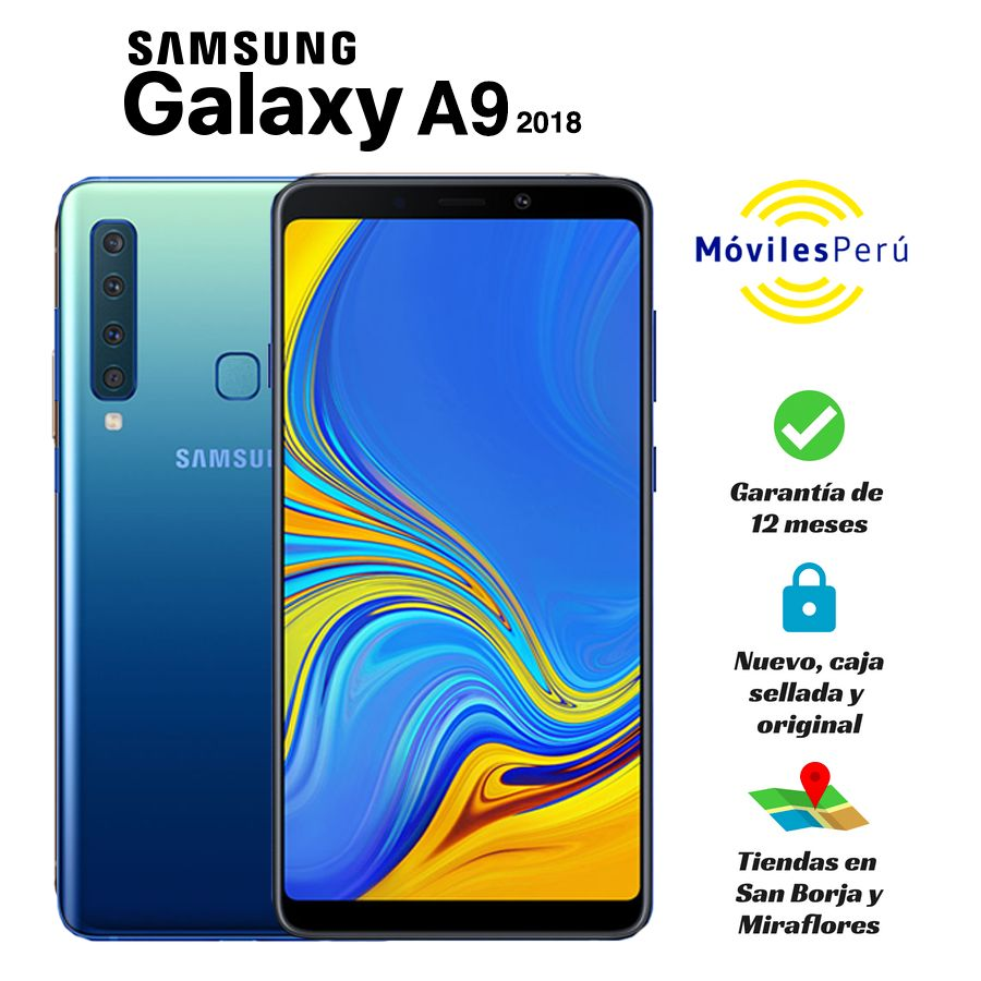 SAMSUNG GALAXY A9 2018 128 GB NUEVO CAJA SELLADA GARANTÍA DE 12 MESES TIENDAS FÍSICAS