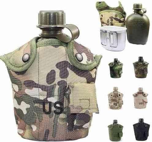 Cantimplora Militar Americana Multifuncion Camuflada Us Army