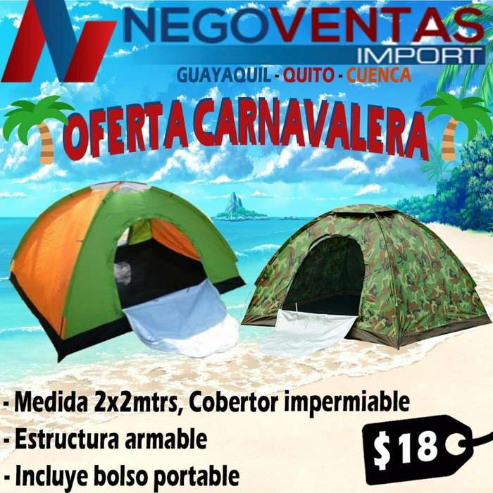 <strong>carpa</strong> CAMPIN 2X2 MTS ESTRUCTURA ARMABLE COBERTOR IMPERMIABLE