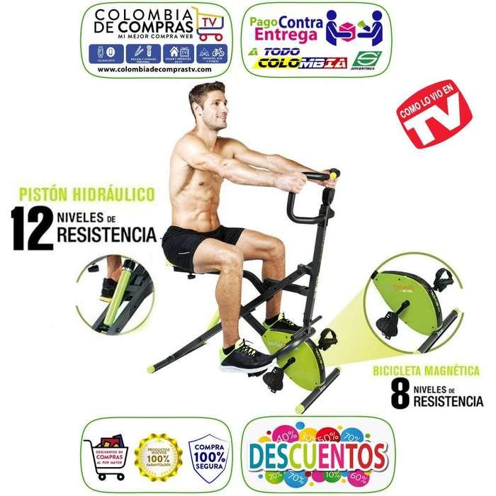 Maquina TV Total Crunch Evolution 12 velocidades Bicicleta Magnética, ejercicio Nuevas, Originales, Garantizadas…