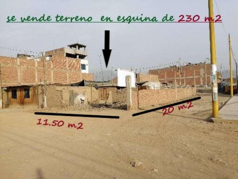 Venta de Terreno en carabayllo 229.50 m2 en Una Esquina