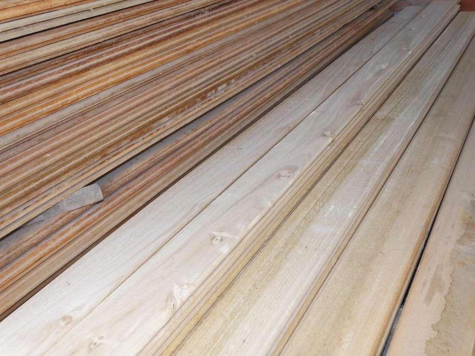 Duelas de Eucalipto seca para piso, tumbado de madera.