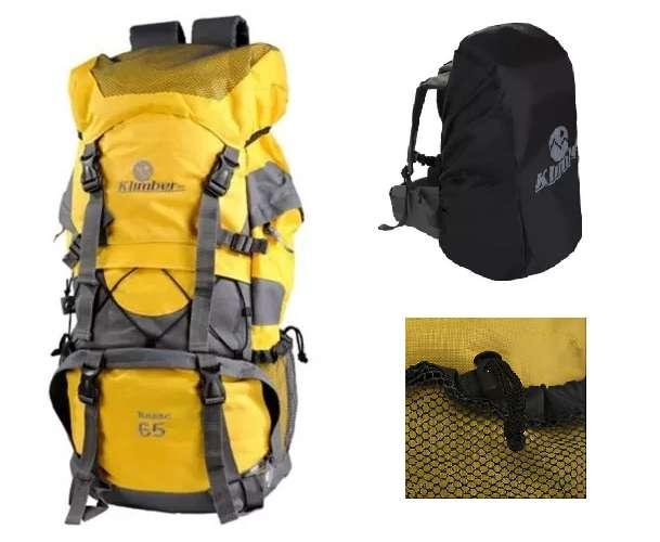 Bolso Morral Para Camping Rasac 65 Litros Amarillo Obsequio ¡¡ Nuevos !!