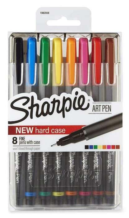Sharpie Marcadores Permanente Art Point Fine Point 8 Pack para Artistas entusiastas profesionales
