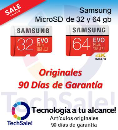 Memoria Micro Sd Samsung Sandisk Lexar Go Pro MicroSd Clase 10