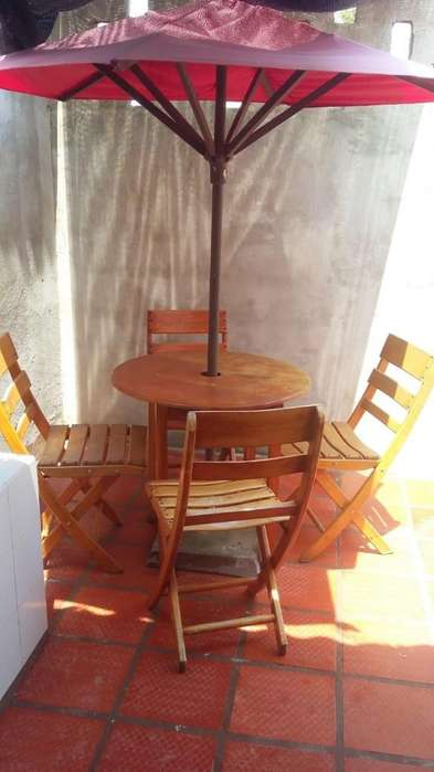 Juego de sillas para patio mesa y sombrilla