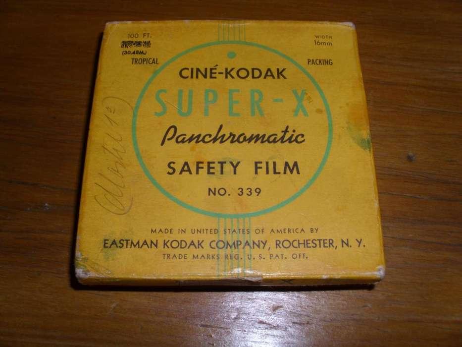 Cine película de seguridad Kodak Super X pancromática 16 mm