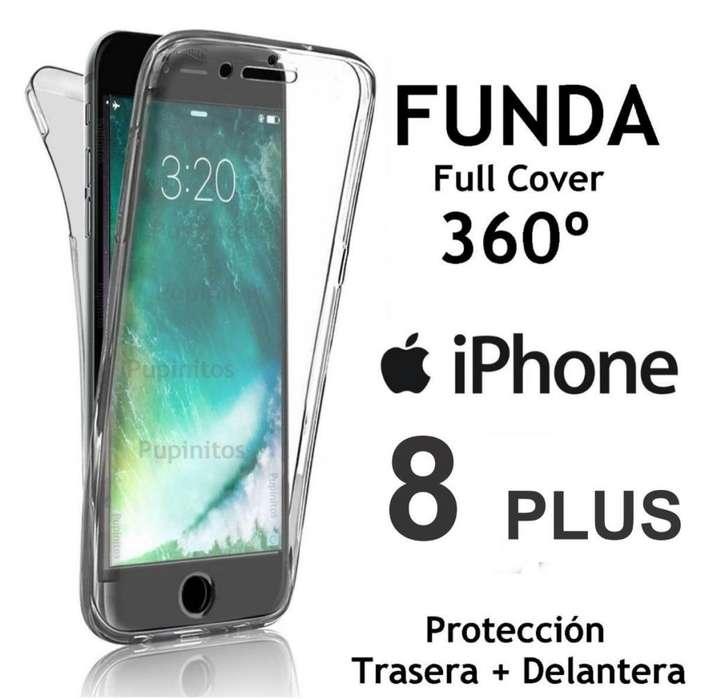 2be7b3a4e79 Funda 360º Cover Silicona Transparente Iphone 8 Plus Rosario