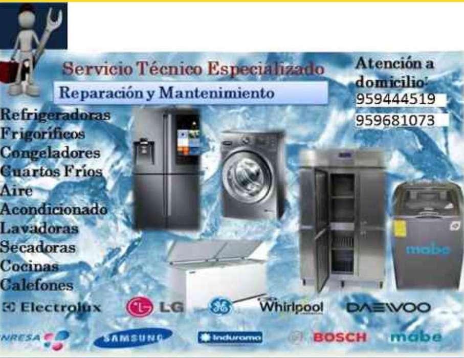 Reparacion Lavadoras, Refrigeradoras,Etc