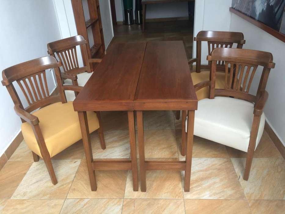 Vendo Mesa y 4 <strong>silla</strong>s en Roble
