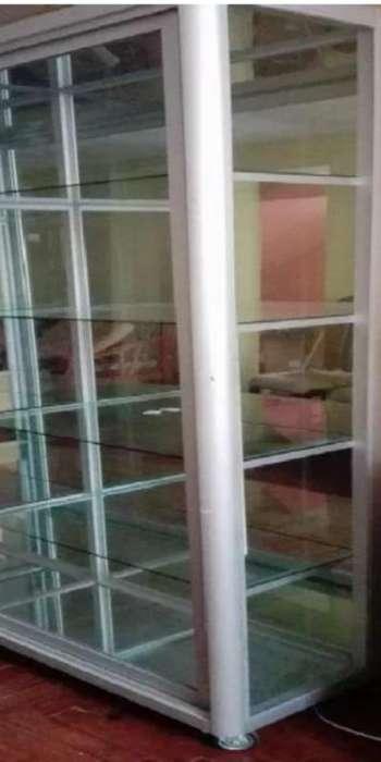 Venta de vitrina de aluminio grande usada llamar al 932784990
