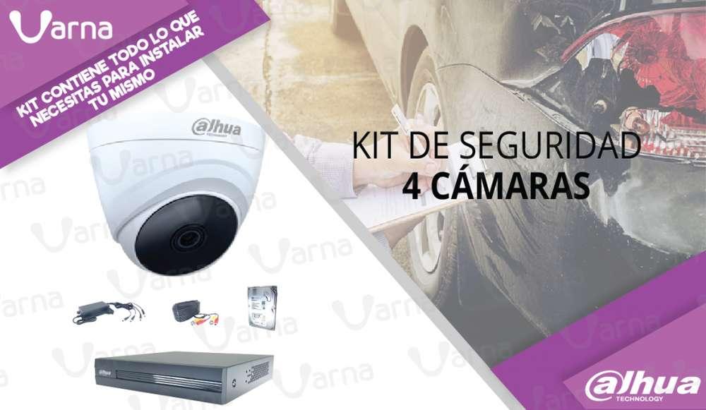 KIT de 4 camaras de seguridad HD 1080p monitoreate tu mismo