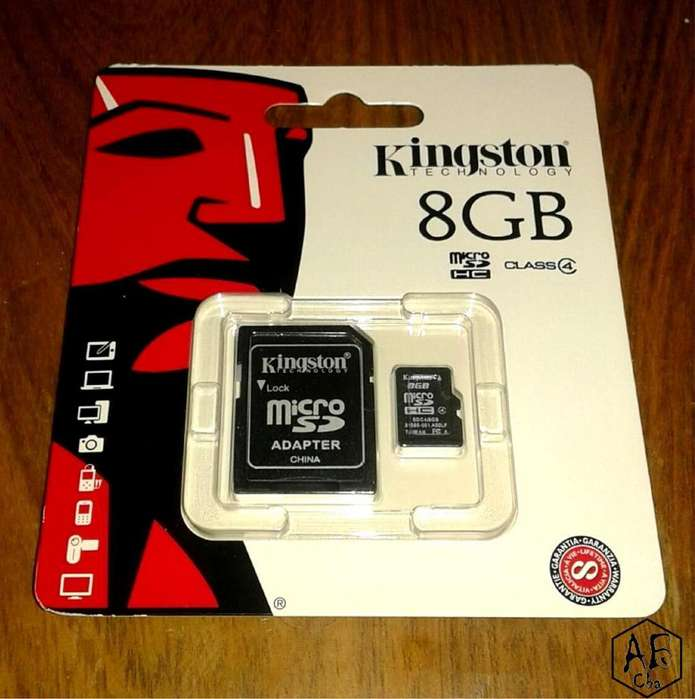 Memoria Kingston Nueva 8GB