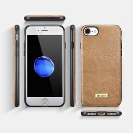 Iphone 7 case funda cuero genuino ligero apple negro en Lima