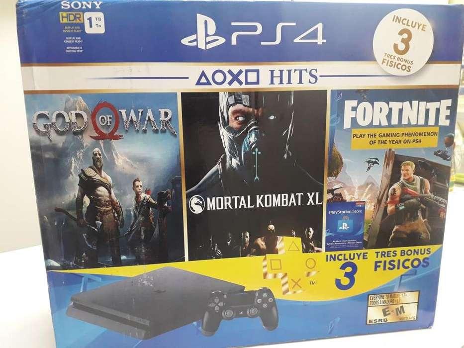 PS4 con 3 juegos y garantía super promoción