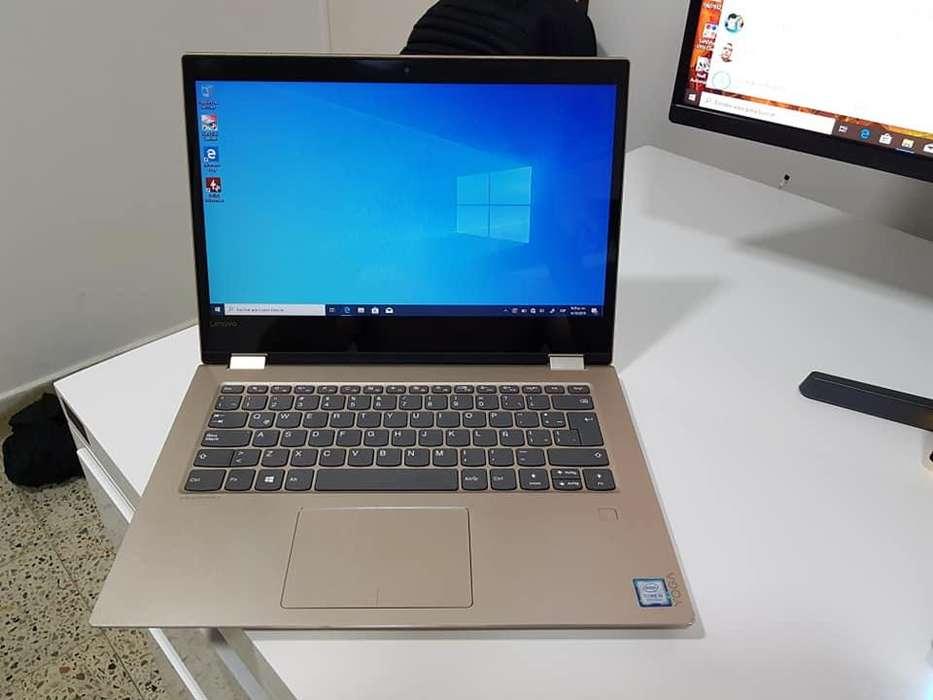 PORTATIL LENOVO YOGA 520 i5 8va To 3.40GHZ 8 hilo, 4GB RAM DDR4, 500GB DISCO, PANTALLA 14 TACTIL 360, HUELLA