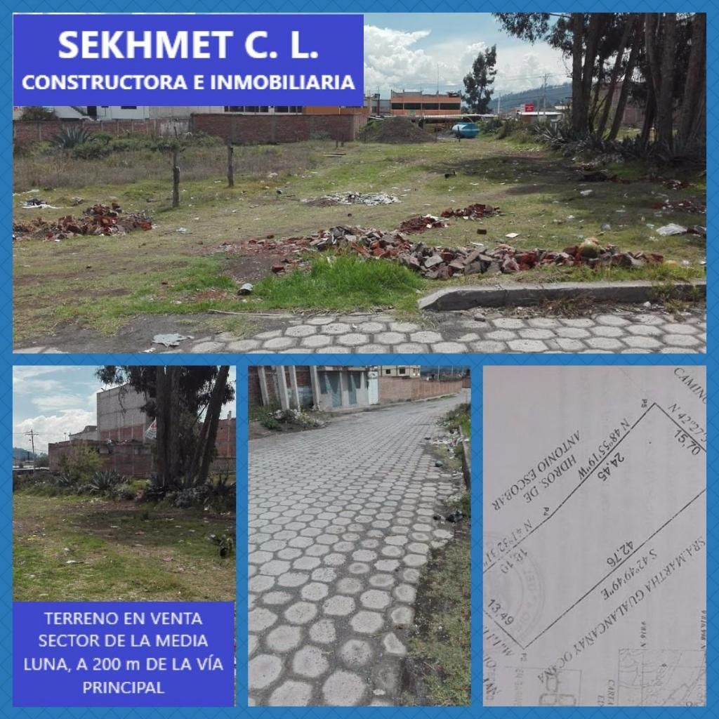 TERRENO EN VENTA SECTOR DE LA MEDIA LUNA, 594 m