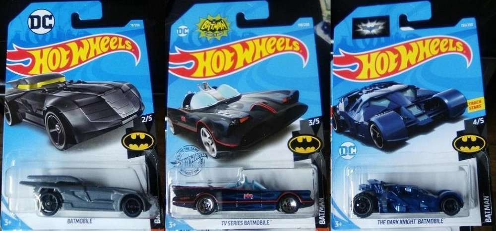 Hot Wheels de Batman Batimovil los 3 por 10 Dólares