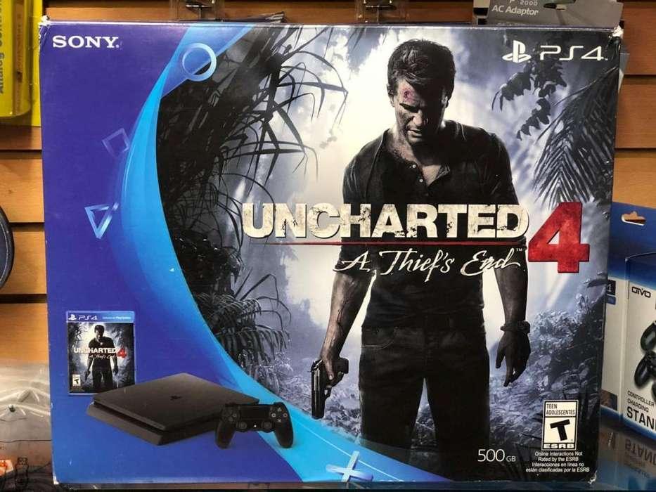 Ps4 SLIM NUEVO! NUEVO! mas el juego Uncharted 4 PROMOCION!!!