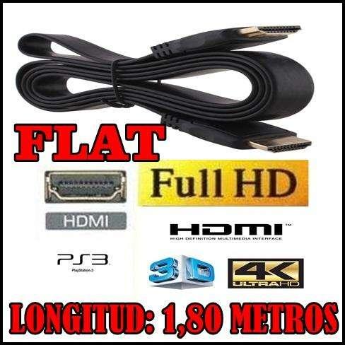 CABLE HDMI FLAT 1,80 METROS FULL HD 1080P