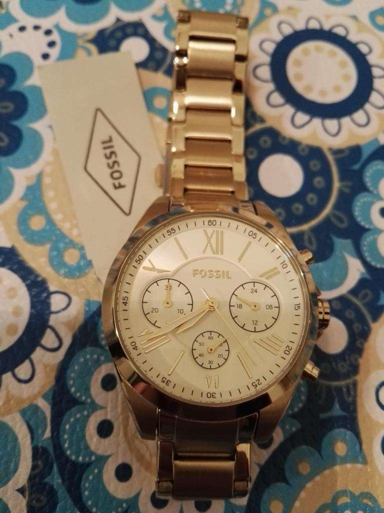 b0dc84b00151 Reloj FOSSIL Dorado Mujer Modelo BQ2145SET - Punta Alta