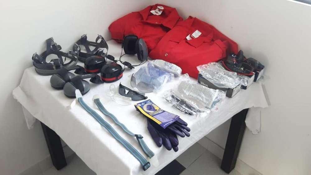 Elementos de seguridad, Botas Cascos Overoles Gafas Guantes y otros. Nuevos y Usados.
