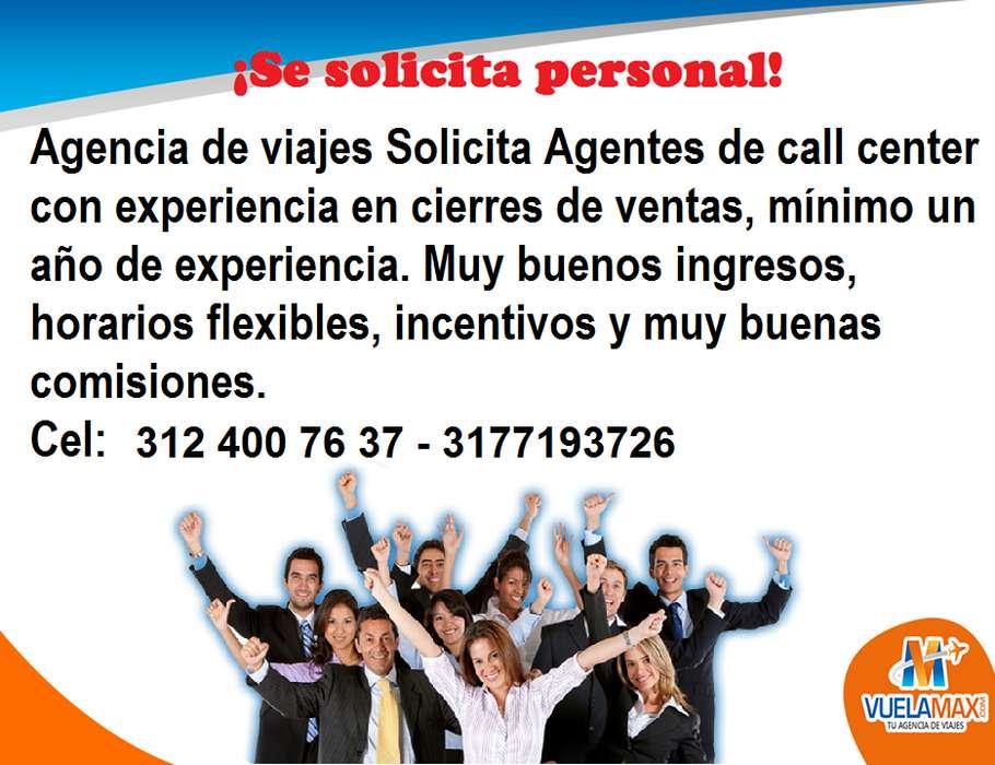 Se solicita asesor comercial con experiencia en cierre de ventas
