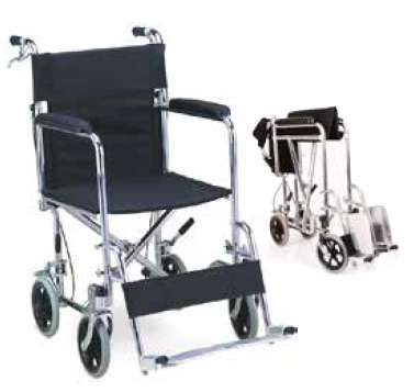 <strong>silla</strong> de ruedas de transporte cromada, plegable