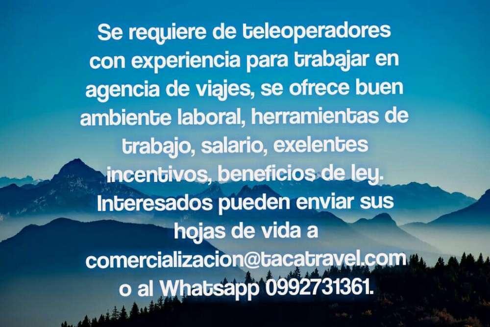 Teleoperadores para Agencia de Viajes