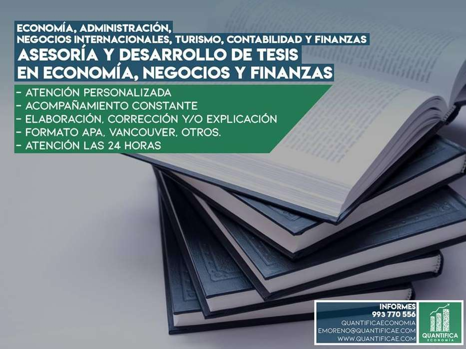 Asesoría de Tesis en Economía, Administración, Negocios y Finanzas.