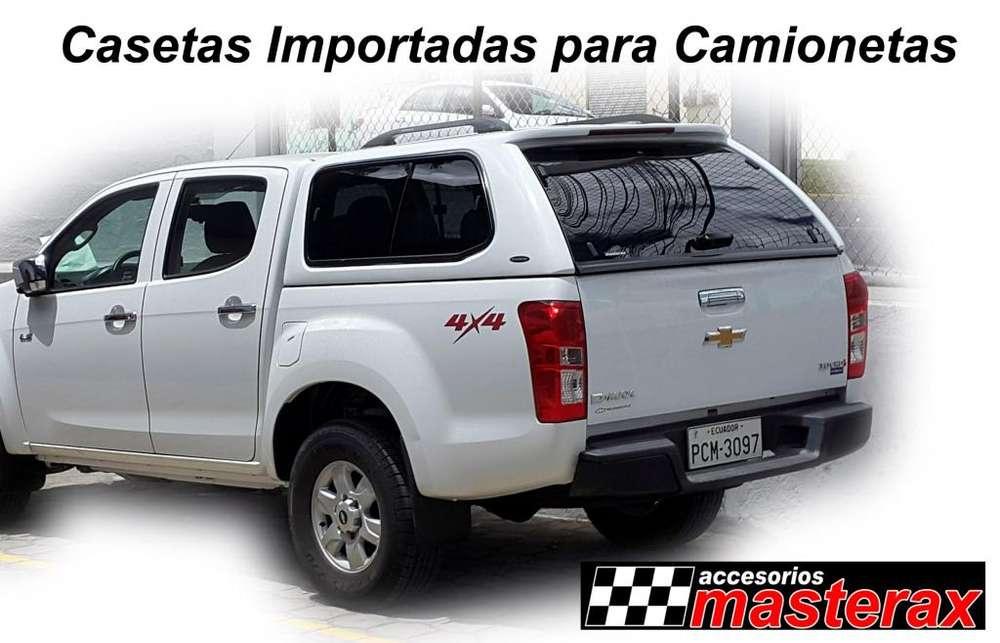 Casetas importadas para Camionetas - Dmax, Hilux, Amarok, BT50, Ranger, Frontier, Wingle, JAC T6, etc.....