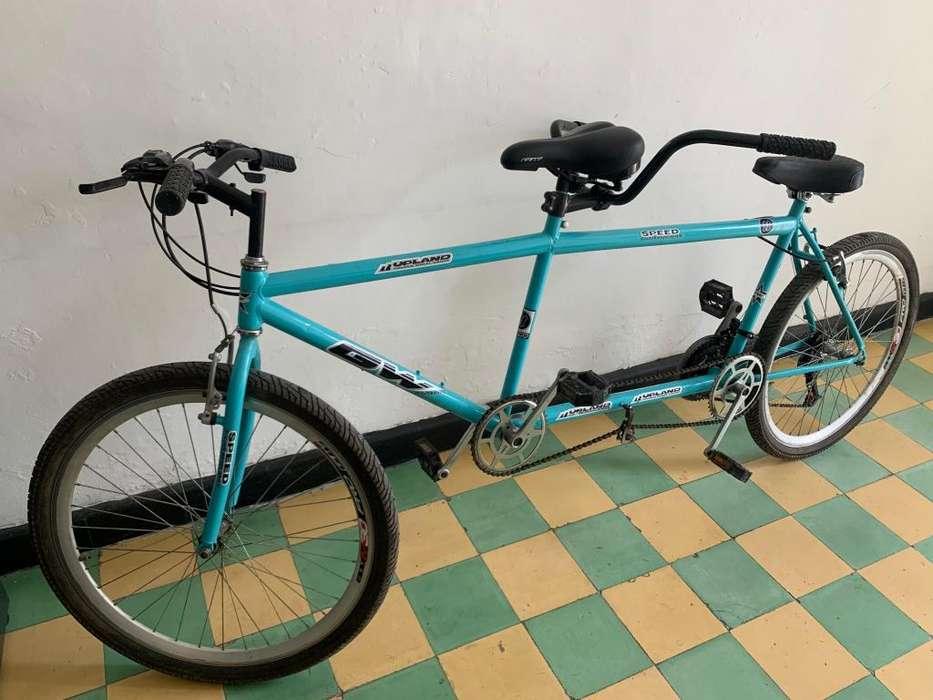 Bicicleta de dos puestos