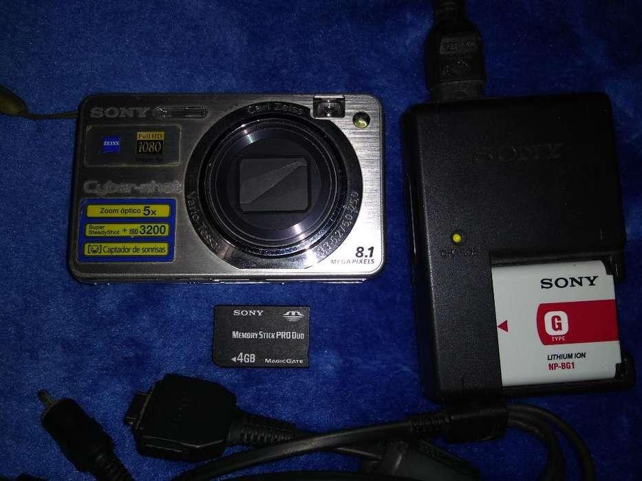 Cámara Sony Cybershot 8.1 4gb