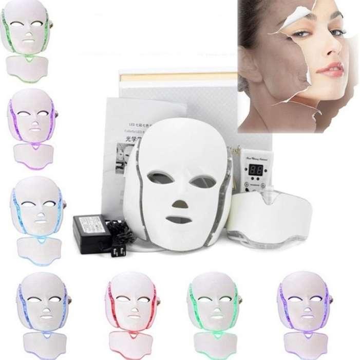 Mascara Led Facial 7 Colores con Cuello