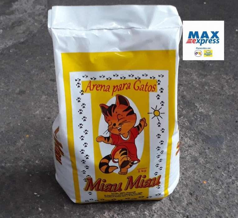 ·Arena para Gatos Arcilla 100 Natural 5 kilos ENVIOS