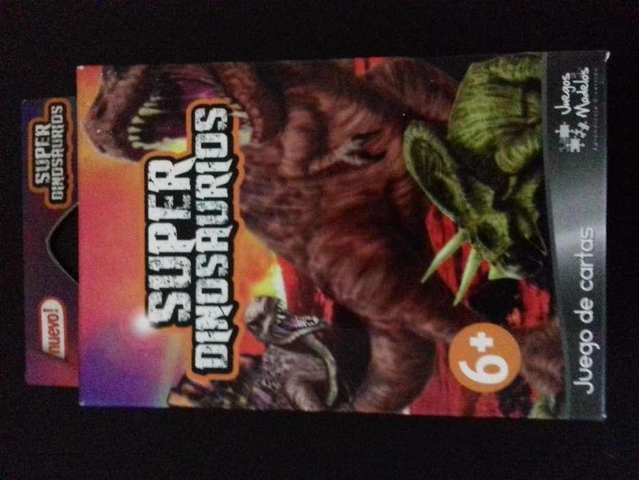 juego de cartas didactico sobre dinosaurios.
