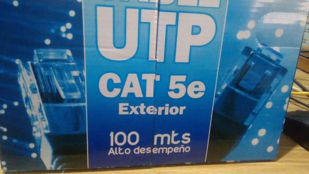 Cable UTP Cat.5e exterior en caja de 100m Nuevo