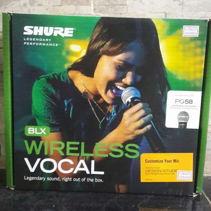 Micrófono inalámbrico Shure BLX24/PG58