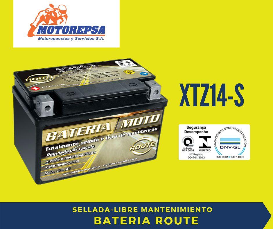 Bateria ROUTE MOTO XTZ14 S / 12V11,2Ah