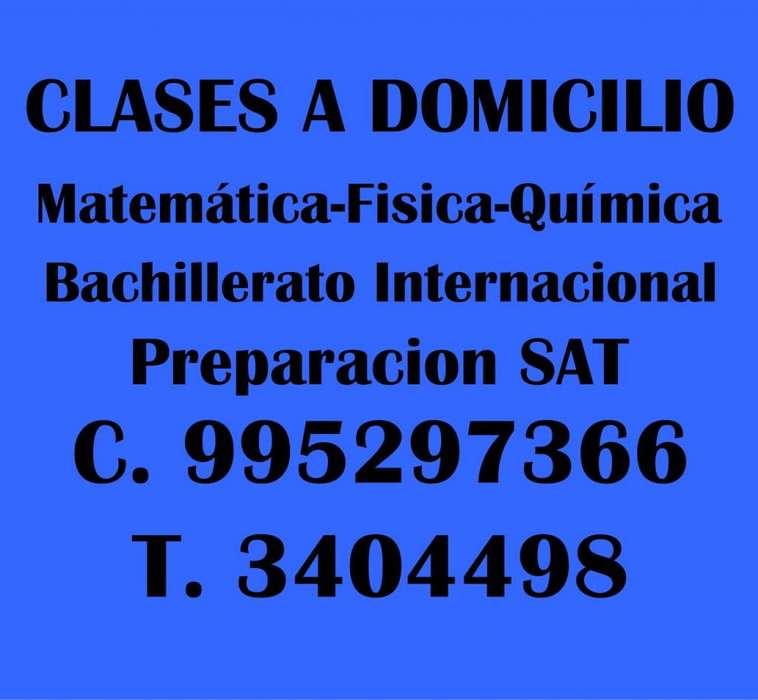 Profesor de Matemáticas Física y Química Bachillerato Internacional