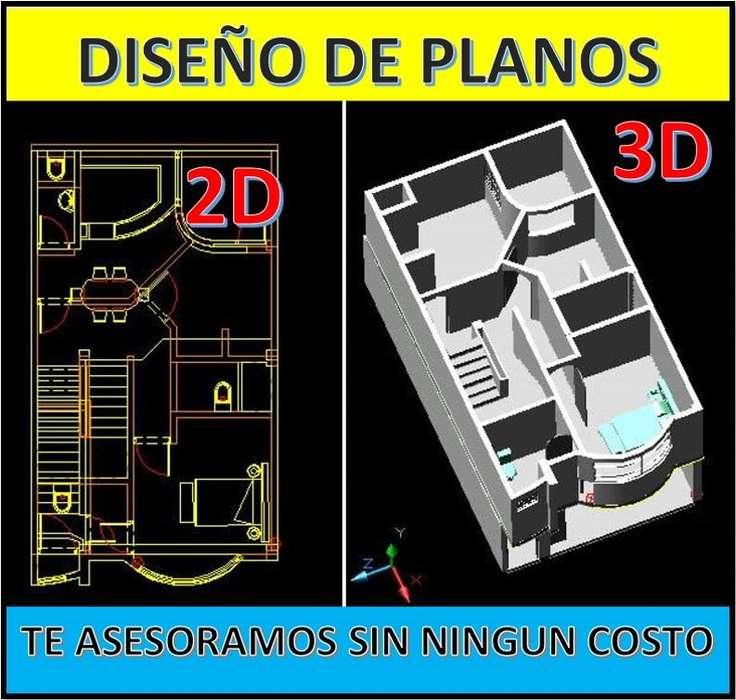DISEÑO DE PLANOS EN 2D y 3D PARA VIVIENDAS