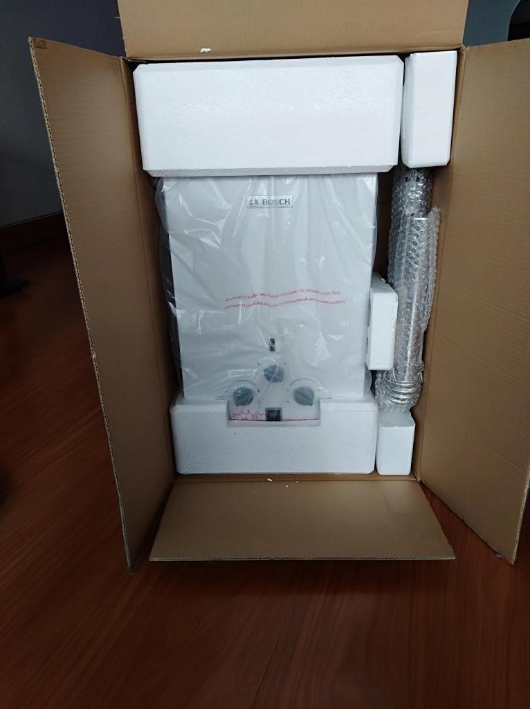 calentador a gas marca Bosch capacidad 6 litros