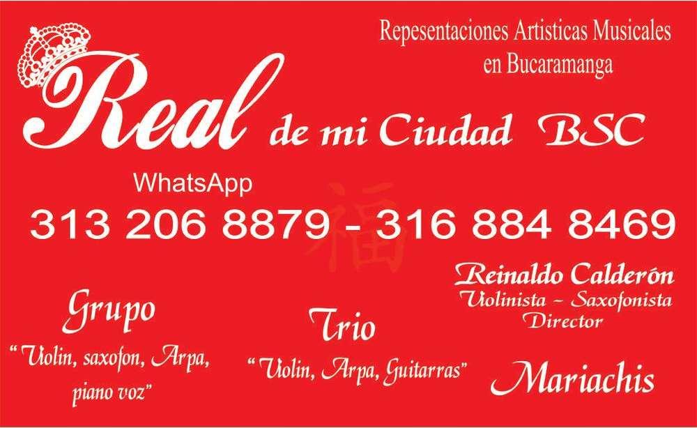 Serenatas con Violín saxofón pagos en linea o con tarjeta credito en Bucaramanga 316 884 8469