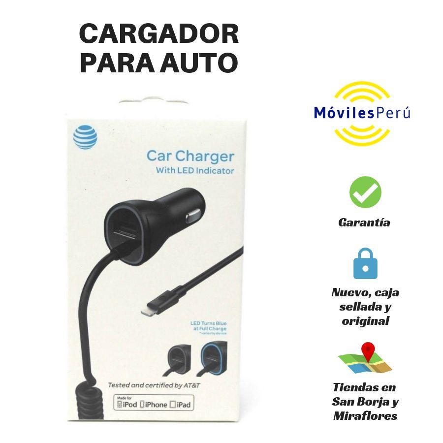 CARGADOR PARA AUTO NUEVO, CAJA SELLADA, ORIGINAL, TIENDAS FÍSICAS