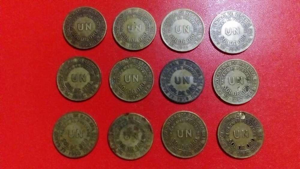 Vendo Monedas 12 Monedas Perianas Sol de