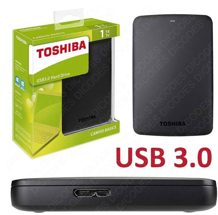 Disco duro externo Toshiba de 1 tera USB 3.0 Nuevos!