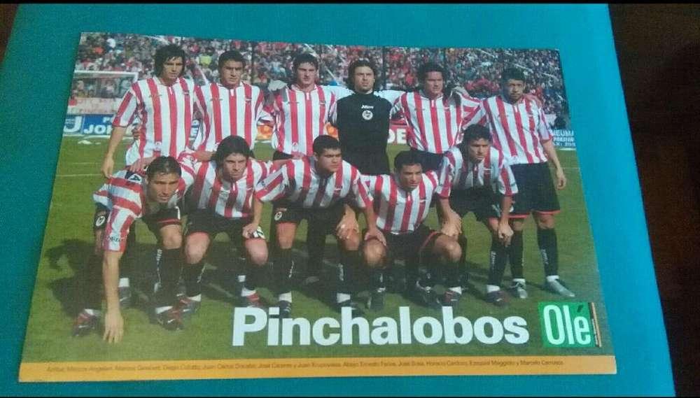 Lindo Poster Ole Estudiantes de La Plata equipo 2003 Pinchalobos . En cartulina