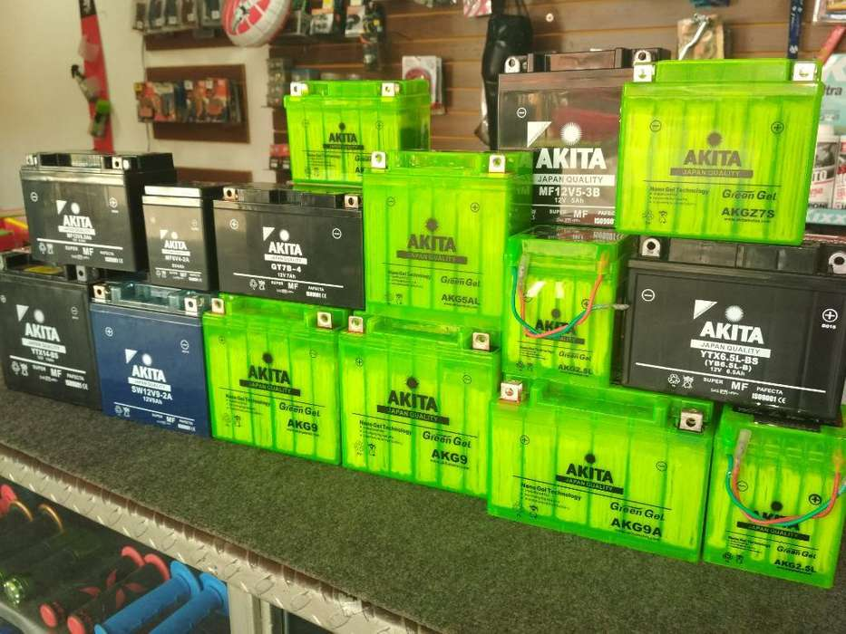 Baterías para Moto Akita de Gel Original