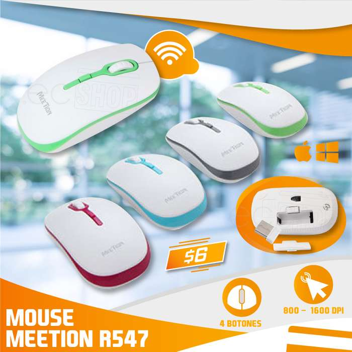 MOUSE INALÁMBRICO MEETION R547