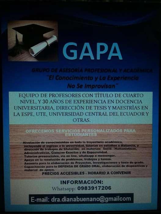 ASESORÌA ACADÈMICA EN TRABAJOS DE TITULACIÒN UNIVERSITARIA